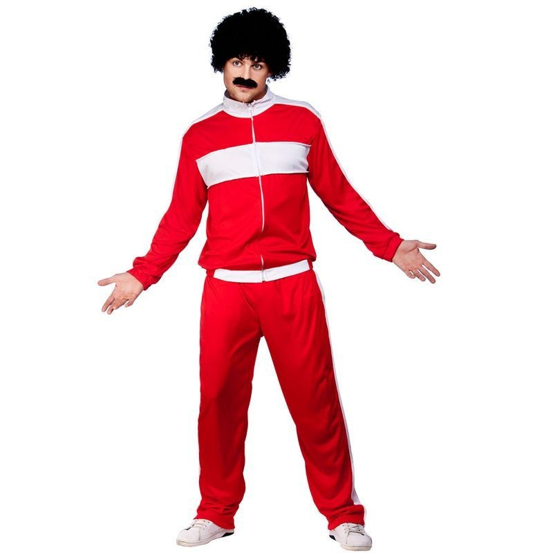 Mens Scouser Tracksuit Tv Outfit -  (Red)