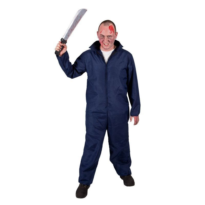 Mens Mechanic Boiler Suit Halloween Outfit (Blue)