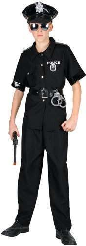 Boys New York Cop (Hat Seperate) Costume (Cops/Robbers)