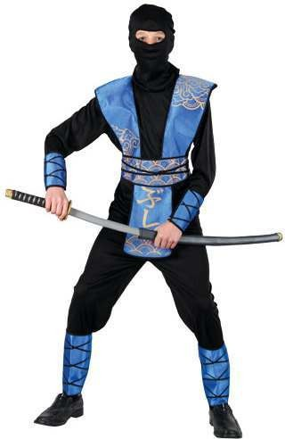 Mens Ninja Master Costume Fancy Dress (Ninja)