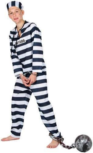 Mens Chain Gang Convict Costume (Cops/Robbers)