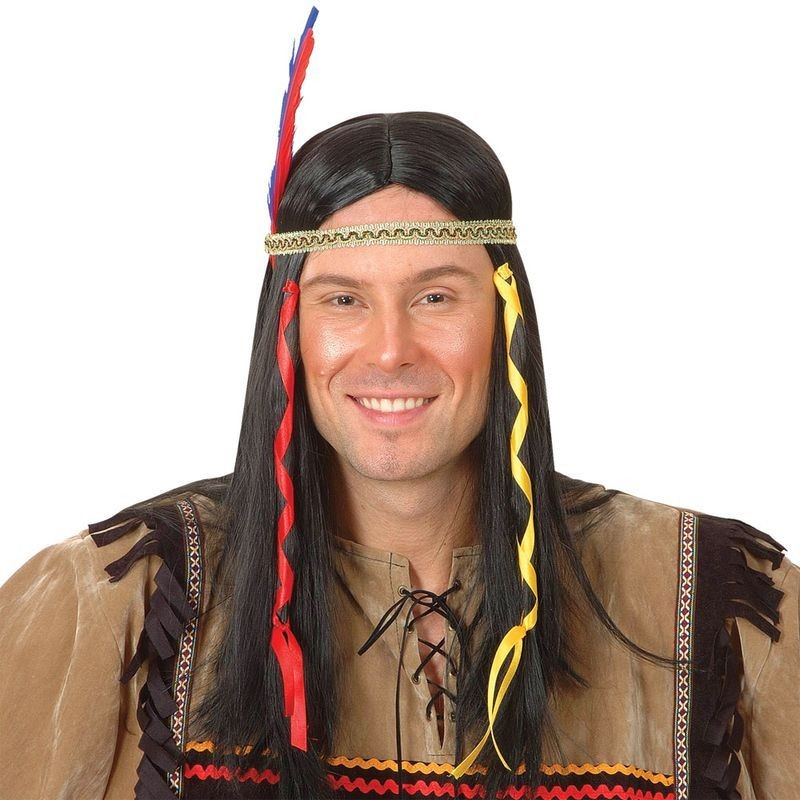 Indian Warrior Wig Mens (Cowboys/Indians)