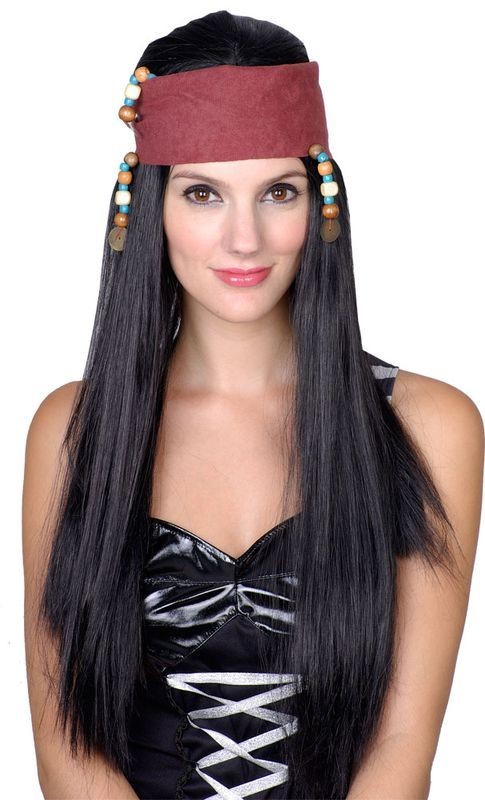 Carribbean Pirate Girl Wig - Fancy Dress Ladies (Pirates)