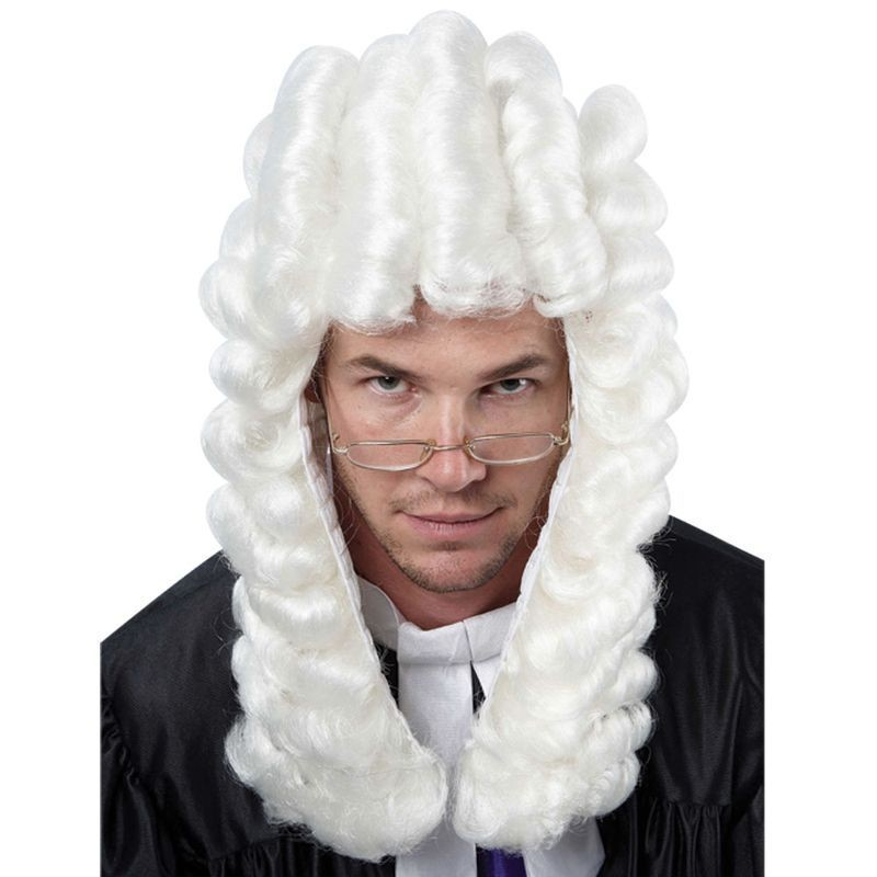 Unisex Law Court Judge Wig