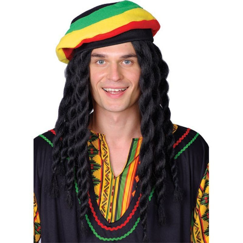 Rasta Man Wig - Fancy Dress Mens