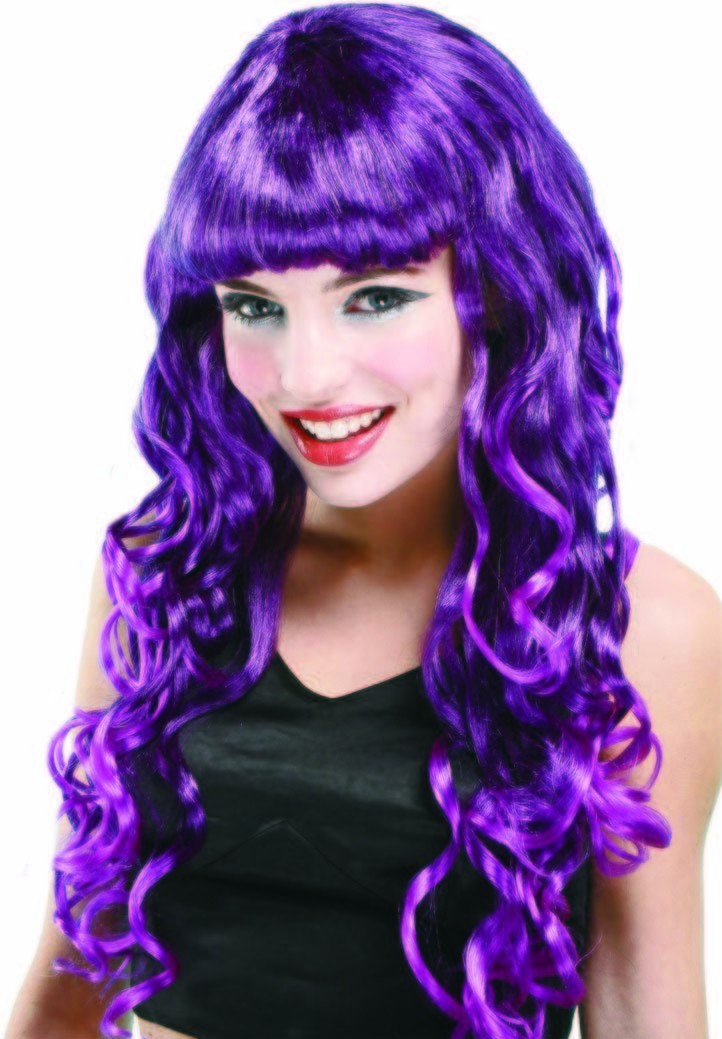 Luscious Wig - Purple Fancy Dress