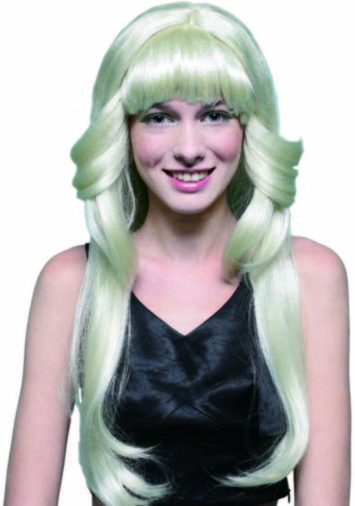 70'S Flick Wig - Blonde Fancy Dress