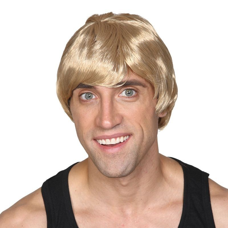 Mens Short Boy Band Wig - Blonde Wigs - (Blond)