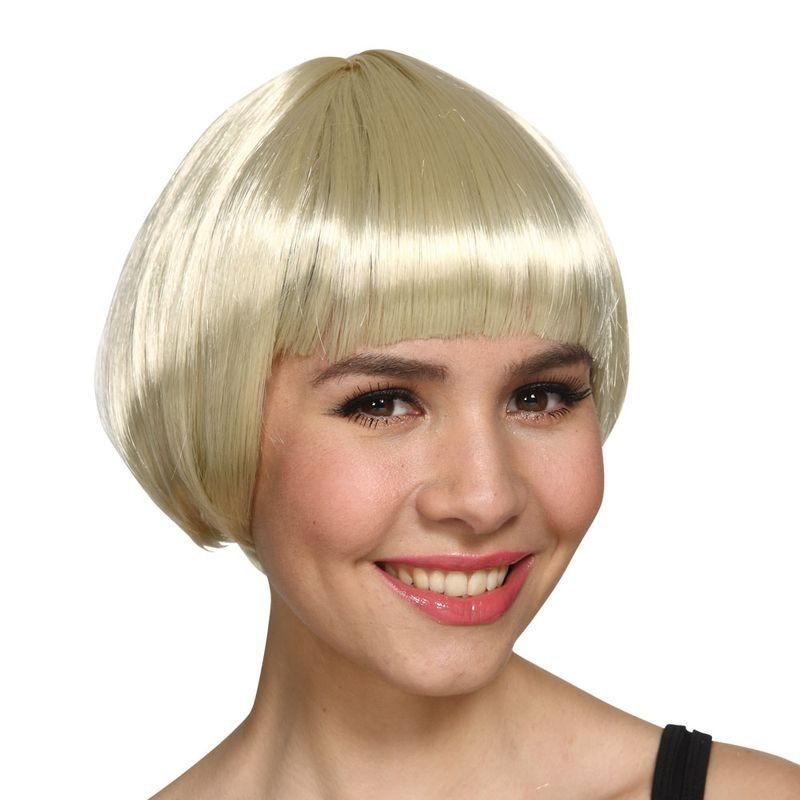 Ladies Short Bob Wig - Blonde Wigs - (Blond)