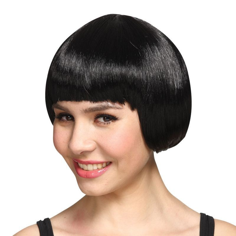 Ladies Short Bob Wig - Black Wigs - (Black)