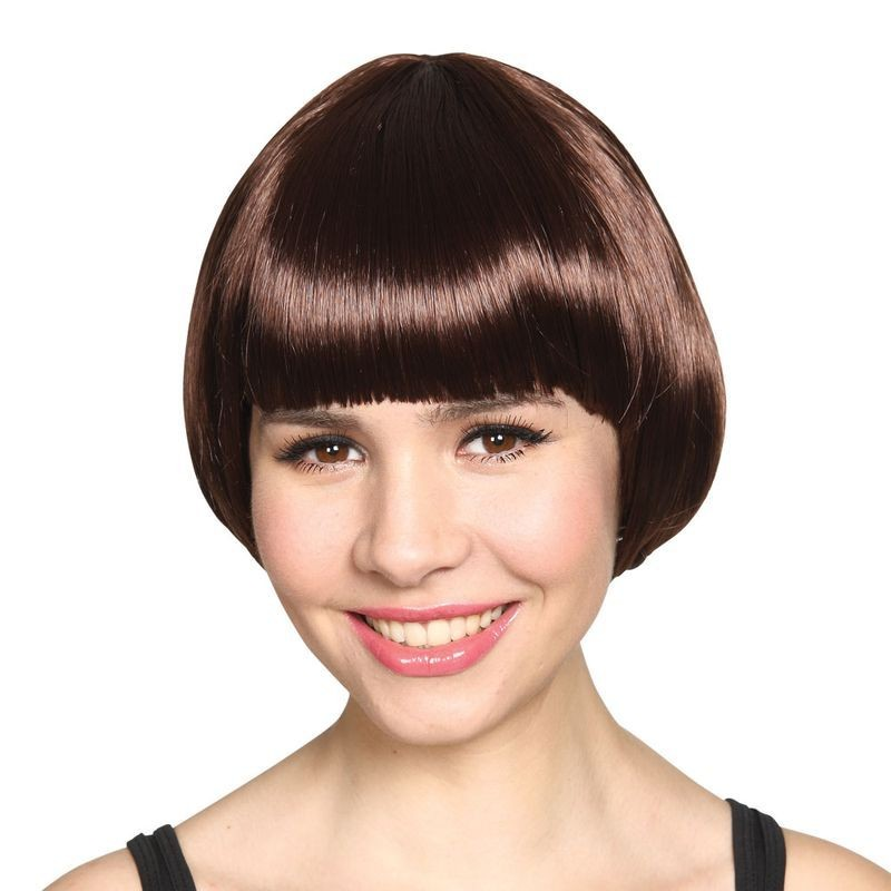 Ladies Short Bob Wig - Brown Wigs - (Brown)