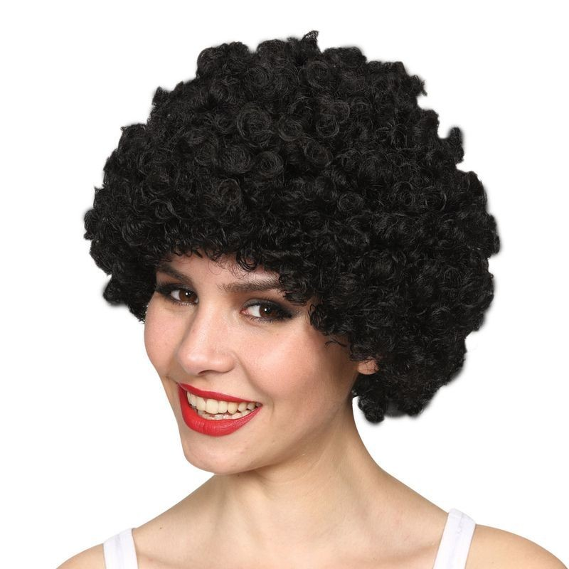 Mens Funky Afro - Black 120Gm Wigs - (Black)