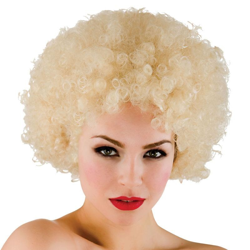Mens Funky Afro - Blonde 120Gm Wigs - (Blond)