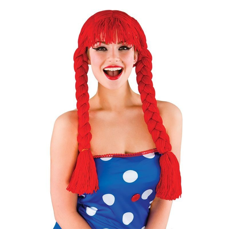 Ladies Ragdoll Wig Wigs - (Red)