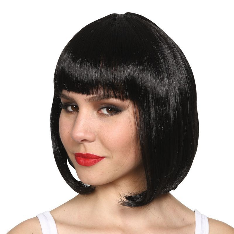 Ladies Long Bob - Black Wigs - (Black)