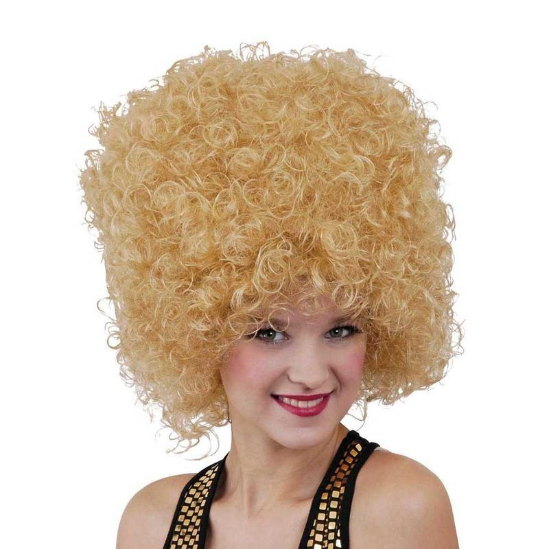 Mens 70'S Disco Afro Wig (Blonde) Wigs - (Blond)