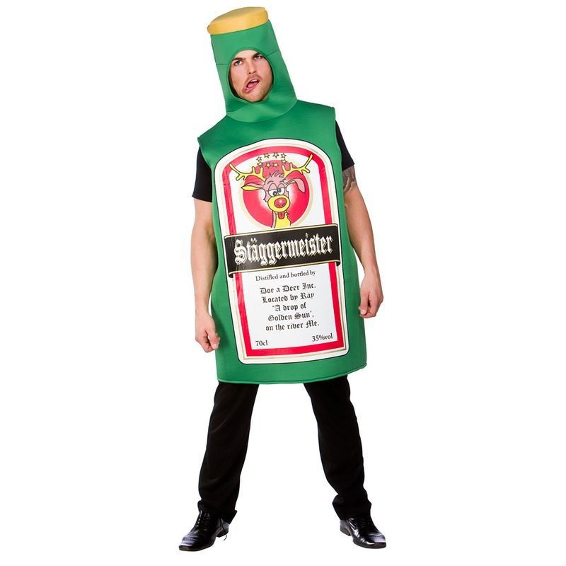 Mens Staggermeister Fun Costume Party Outfit - (Green)