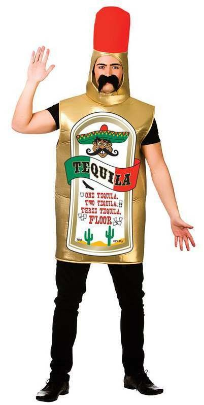 Adults Tequila Bottle Stag/Hen/Party/Fun Run Fancy Dress Costume