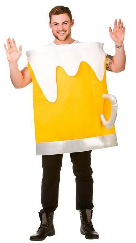 Adults Beer Mug Stag/Hen/Party/Fun Run Fancy Dress Costume