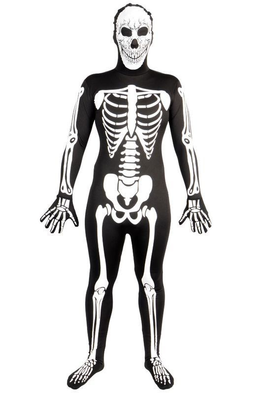 Skinz - Skeleton G.I.D Fancy Dress (Hen & Stag)