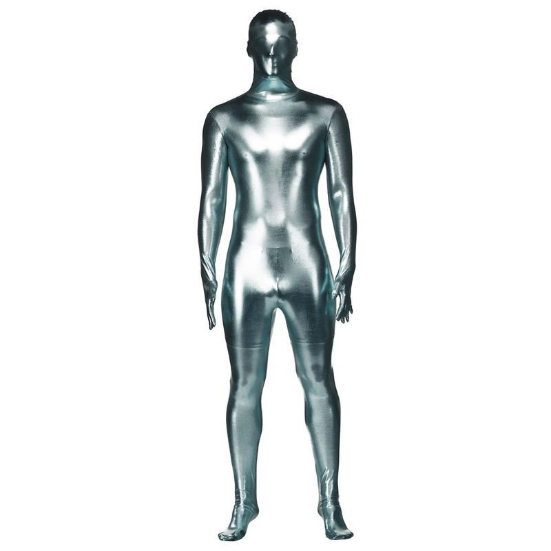 Mens Silver Metalic Skinz Outfit (Silver)