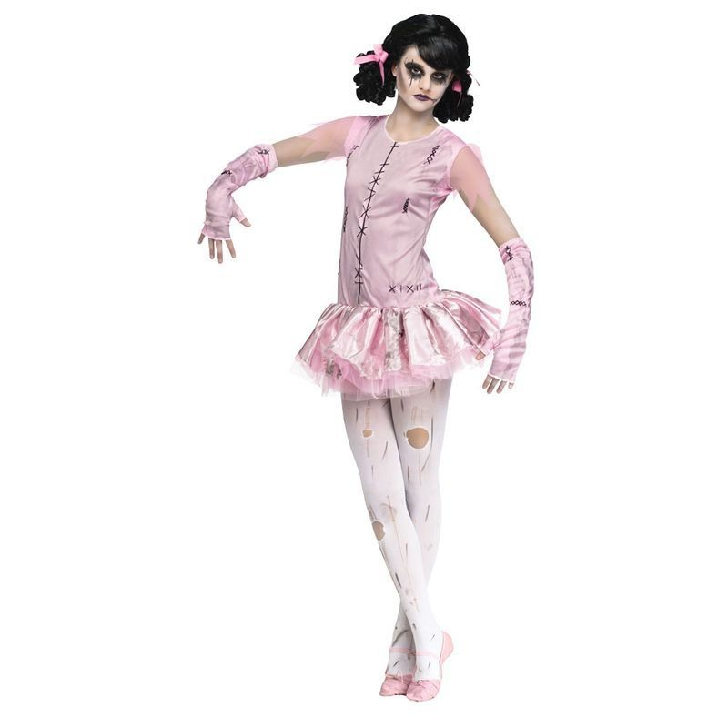 Girls F/World Zombie Ballerina Halloween Outfit - (Pink)
