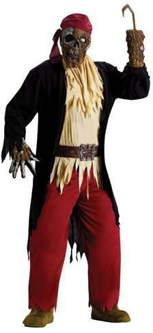 Zombie Pirate Costume (Adult) Fancy Dress (Pirates)