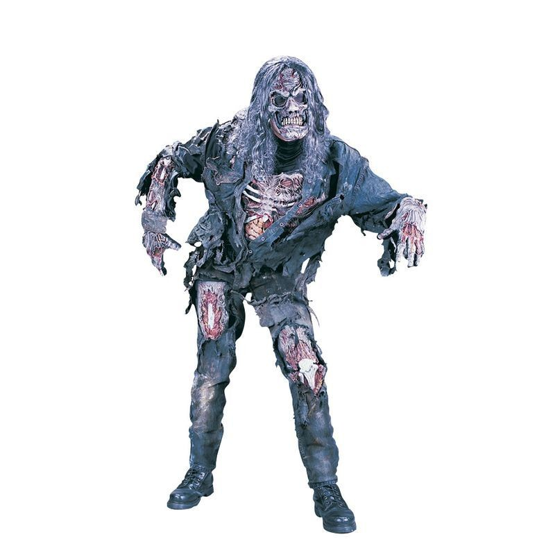 Boys F/World Complete Zombie Costume Halloween Outfit Age 13-14 - (Grey)