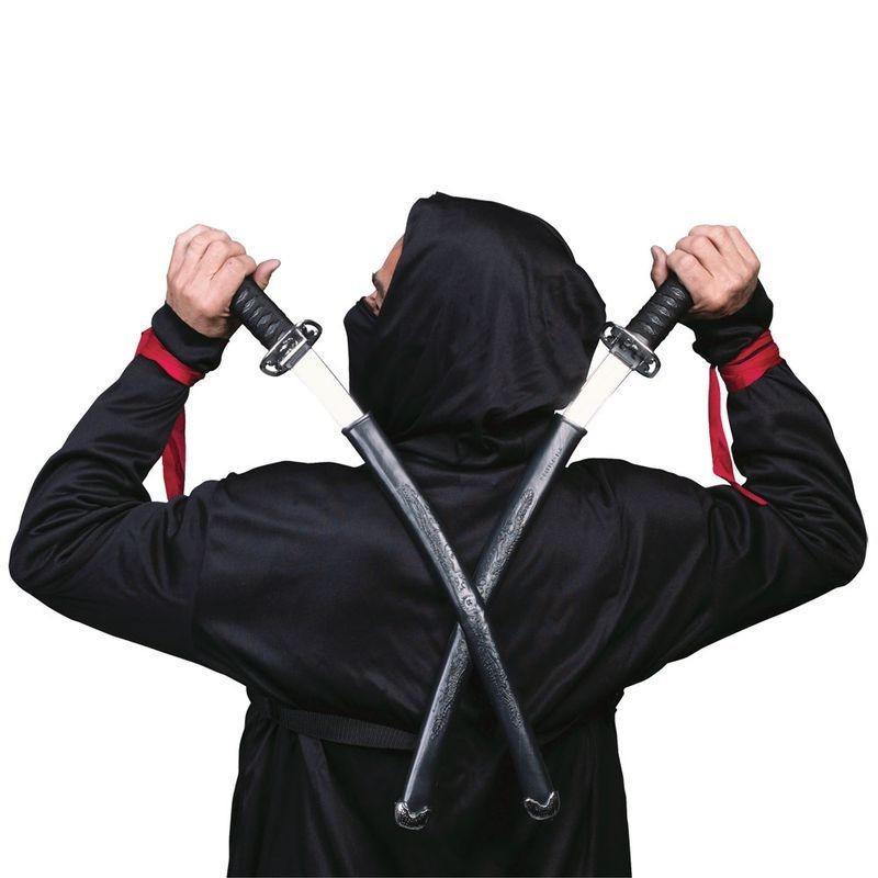 Double Ninja Swords Fancy Dress