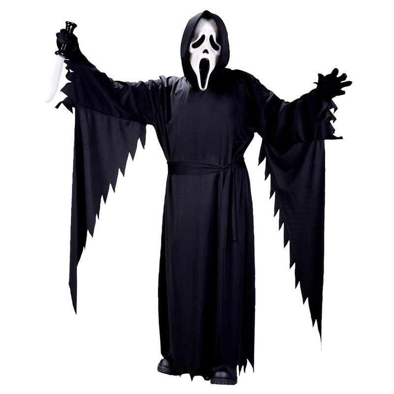 Boys F/World Scream Costume (Teen Size) 14 Yrs Masks - (White)