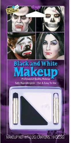 Black & White Make Up Fancy Dress