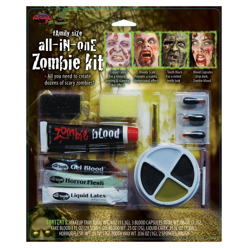 All In One Family Zombie Makeup Kit Makeup