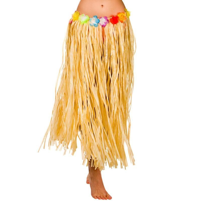 Natural Hawaiian Hula Skirt 80Cm Fancy Dress Accessory