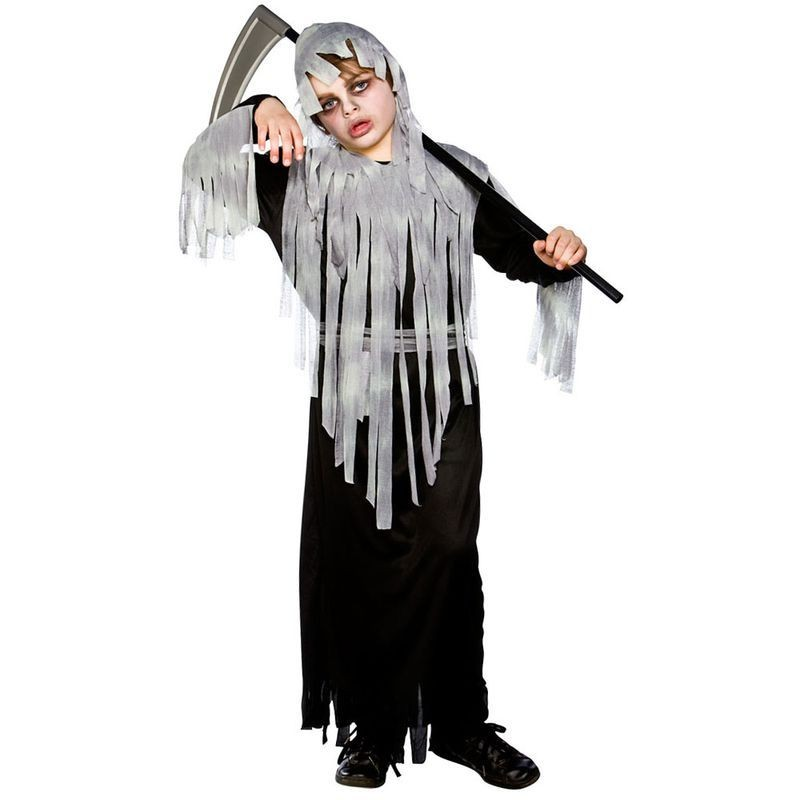 Boys Graveyard Zombie Halloween Outfit - (Black)