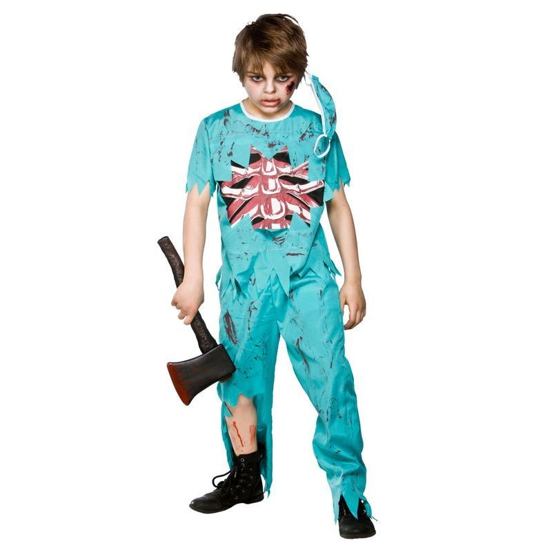 Boys Zombie Doctor Doctors/Nurses Outfit - (Green)