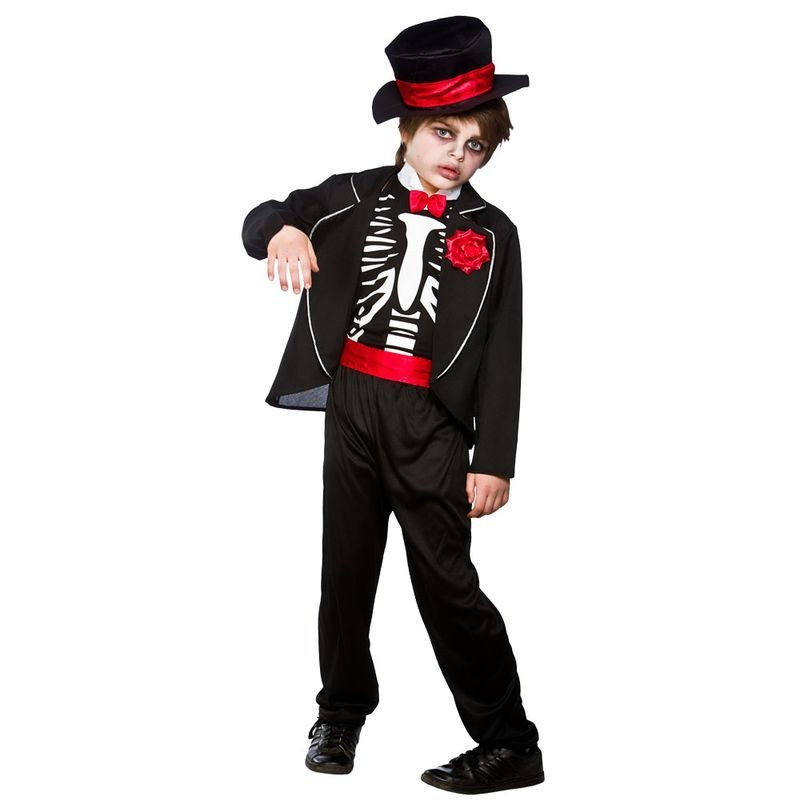 Boys Prom Night Zombie Halloween Outfit - (Black)