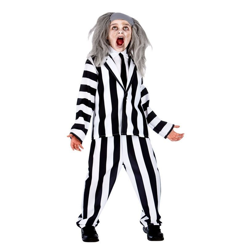 Boys Crazy Ghost Halloween Fancy Dress Costume