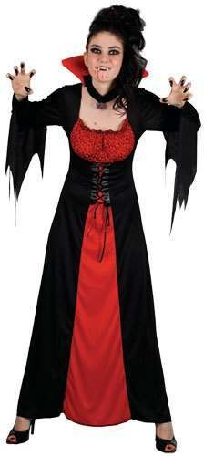 Ladies Classic Vampiress Costume Fancy Dress (Halloween)