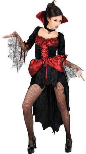 Ladies Burlesque Vamp Costume Fancy Dress (Halloween)