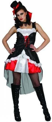 Ladies Burlesque Victorian Vamp Costume (Halloween)