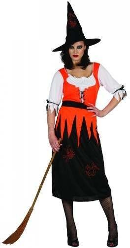 Ladies Witchy Witch Costume Fancy Dress (Halloween)