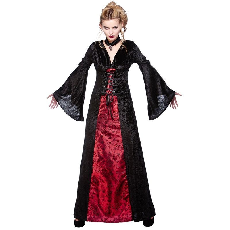 Ladies Deluxe Midnight Vampiress Halloween Costume