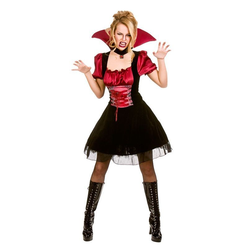 Ladies Bloodlust Vamp Halloween Fancy Dress Costume