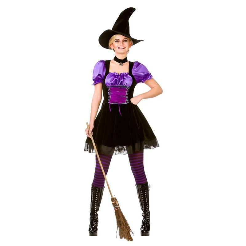 Ladies Hocus Pocus Witch Halloween Fancy Dress Costume