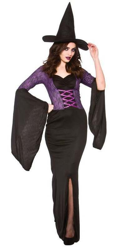 Ladies Alluring Witch Halloween Fancy Dress Costume