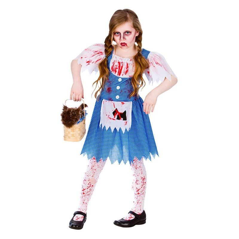 Girls Deadly Dorothy Halloween Fancy Dress Costume