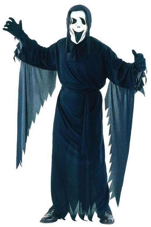 Men'S Horror Film Screamer Halloween Fancy Dress Costume