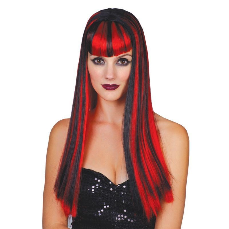 Vamp Vixen Fancy Dress Wig Ladies (Halloween)