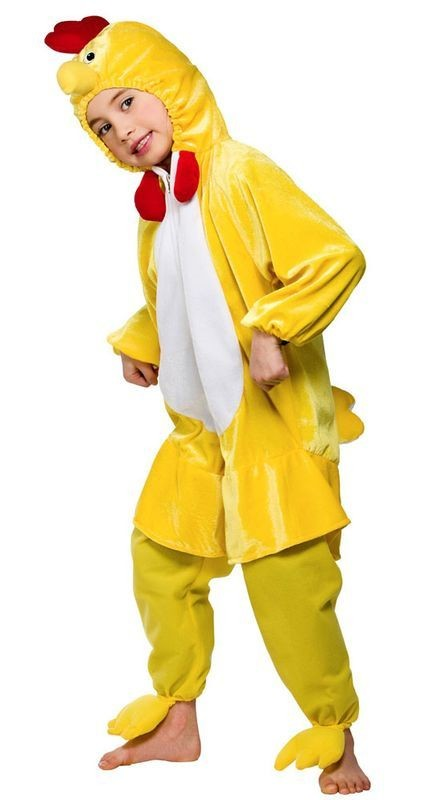 Adult Unisex Kids Yellow Chick Animal Outfit - One Size (Yellow)