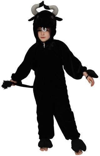 Kids Black Bull Costume  Fancy Dress (Animals)